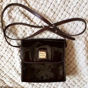 Dooney and Bourke black patent leather crossbody